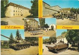MILITARIA - YPERN - 2)R.C. YPERN CASERNE - Militaires-Chars-Bâtiments - CPSM Multivues (5 Vues) Grand Format - Casernes