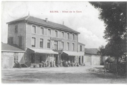 BAINS LES BAINS 88 VOSGES  HOTEL DE LA GARE EDIT. HOMEYER - Bains Les Bains