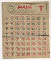 TICKET RATIONNEMENT PAIN 1942 / LA FRAUDE NE PAIE PAS   B772 - Historische Dokumente