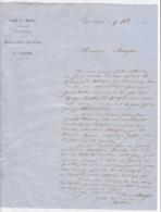 895/29 - Lettre Commerciale à Entete 1863 - Scierie De MARBRE Et  Fonderie De FER , H. André à THY LE CHATEAU - Belgique - België