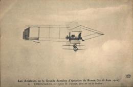 CPA. - > Aviation > Meetings > Les Aviateurs De La Gde Semaine D'Aviation De ROUEN (19-26.6.1910) CHRISTIAENS Sur FARMAN - Meetings
