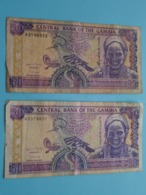 2 X 50 - FIFTY DALASIS ( A3378837 / A2196932 ) Central Bank Of The Gambia ( For Grade, Please See Photo ) 2 Pcs. ! - Gambie