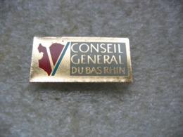 Pin's Du Conseil Général De Bas-Rhin - Administrations