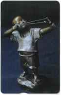 Taiwan - Chunghwa Telecom (Chip) - Artwork Boy With Catapult - 100U, 2007, Used - Taiwán (Formosa)