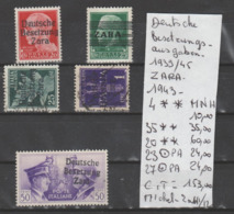 TIMBRES D ALLEMAGNE DEUTSCHE BESETZUNGS AUSGABEN ( ZARA) 1939/45  Nr VOIR SUR PAPIER AVEC TIMBRES   COTE 153  € - French Zone