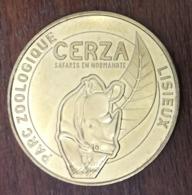 14 HERMIVAL LES VAUX LISIEUX ZOO CERZA N°3 RHINOCÉROS MÉDAILLE MONNAIE DE PARIS 2019 JETON MEDALS TOKENS COINS - 2019