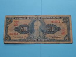 500 Cruzeiros Quinhentos ( 095942 ) 1A Série 986A ( For Grade, Please See Photo ) ! - Brésil