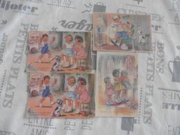 LOT   DE  4     CARTES  POSTALES      GERMAINE  BOURET - 5 - 99 Cartes