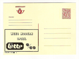 Publibel Neuve N° 2701 (Wees Modern Speel; LOTTO) - Stamped Stationery