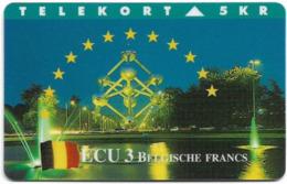 Denmark - TS - Ecu - Belgium - TDTP077B - 10.95, 700ex, Used - Denemarken