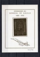 France,carte Postale,hommage Au Général De Gaulle -1890- 1970 - Yémen. Plaquée Or.Carte Numérotée 470 - Fotos