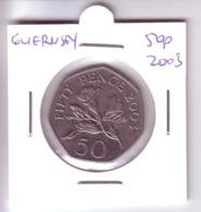 Guernsey 50 Pence - Flowers (2003) - Guernsey