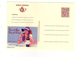 Publibel Neuve N° 2709 ( De Martimont; Vins De France) Louis Delhaize - Gro-Match - Stamped Stationery
