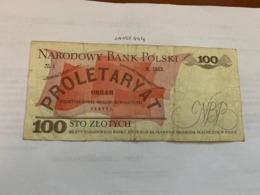 Poland 100 Zlotych Banknote 1988 - Poland