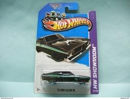 Hot Wheels - '73 FORD FALCON XB 1973 Noir - 2013 HW Showroom - HW Garage HOTWHEELS US Long Card 1/64 - HotWheels