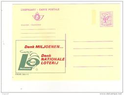 Publibel Neuve N° 2606 (pensez Millions; Pensez Loterie Nationale - Nationale Loterij) - Stamped Stationery