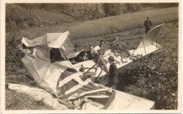 Aviation - Accident De L'avion Wild CH-42 De P. Messerli De Lausanne-Blécherette - Lot De 5 Cartes - 1919-1938: Entre Guerras