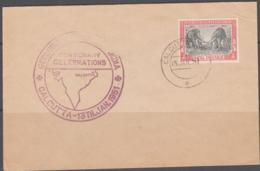 PREHISTORIC ANIMALS - INDIA - 1951 - STEGODON FDC WITH GEOLOGICAL CACHET  AND CALCUTTA POSTMARK - Stamps