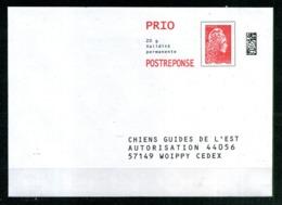 """PAP Ciappa MARIANNE L'ENGAGE """" CHIENS GUIDES DE L'EST """" Port Payé Par 231804 NEUF ** - Entiers Postaux"""