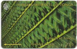 Tonga - Textures Of Tonga Green, 261CTGA, 1998, 20.000ex, Used - Tonga