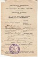 Sauf Conduit 1915  Pour Abbeville - 1914-18