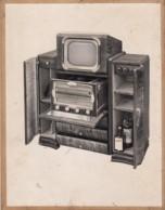 Meuble TV Et TSF  Annèe 1950 Environ - Vieux Papiers