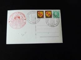 CACHET COMMEMORATIF -   TRICENTENAIRE DU RATTACHEMENT DES 3 EVECHES A LA FRANCE  -  METZ - TOUL - VERDUN -  1948  - - Marcophilie (Lettres)