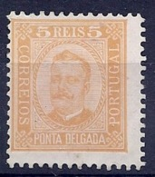 190032014  PONTA DELGADA  YVERT  Nº  1A  D-12 1/2  */MH  (NO GUM) - Ponta Delgada