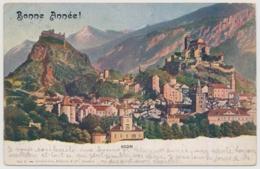Bonne Année - Sion - Kleiner Einrich Auf Der Seite Und Marke Fehlt - VS Wallis