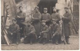 Photo Poilus Sur CPA 1915 - Guerre 1914-18