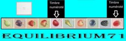 R145/157** (4800/4809) - Fruits/Fruiten (bande 7 De 10 Timbres Différents Num./band 7 Van 10 Verschillende Zegels Genum) - Francobolli In Bobina