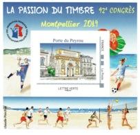 France, Congress In Montpellier (Hérault), 2019, MNH VF FFAP Souvenir Sheet Of 1 - France