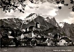 Sarganz Mit Schloss Und Falknis (7126) - SG St. Gallen