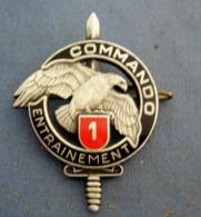 RARE Insigne Militaire CENTRE D ENTRAINEMENT COMMANDO  1 Er CEC DRAGO Paris   RARE - Armée De Terre