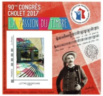 France, Congress In Cholet (Maine-et-Loire), 2017, MNH VF FFAP Souvenir Sheet Of 1 - France