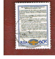 SUD AFRICA (SOUTH AFRICA) - SG 733 - 1991 MIDWIVES & NURSES REGISTER  - USED - Usati