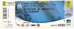 """MARSEILLE - Billet D'entrée """"Olympique Marseille => EA GUINGAMP"""" - Stade Vélodrome Ganay 16 Septembre 2018 - Tickets D'entrée"""