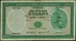 TIMOR - 1.000 Escudos 21.03.1968 {Banco Nacional Ultramarino} Fine+ P.30 A(1) - Timor