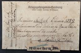 Etiquette COLIS > PRISONNIER DE GUERRE Allemand NANTES ISLES De La BASSE LOIRE De München Verso étiquette Colis Feldpost - Poststempel (Briefe)