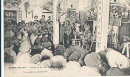 AN 813 /  C P A   -INDOCHINOIS- GUERRE 1914-1917 TIRAILLEURS INDOCHINOIS - UNE SEANCE THEATRALE - Militaria