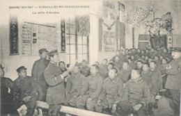 AN 816 /  C P A   -INDOCHINOIS- GUERRE 1914-1917 TIRAILLEURS INDOCHINOIS -  LA SALLE D'ETUDES - Militaria
