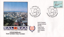 South Africa - 1994 60th Anniversary Of SAA No. 59 Johannesburg-East London Cover - Hubschrauber