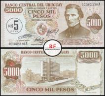 Uruguay   5 New Peso   1975   P.57   Overprint   UNC - Uruguay