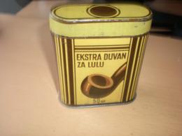 Old Tin Box Ekstra Duvan Za Lulu Pipe Tobacco 50 Gr - Boites à Tabac Vides