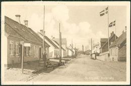DENMARK Old Postcard HIRTSHALS Street View Posted 1928 To Austria - Dänemark
