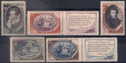 Russia 1949, Michel Nr 1348-52, MH OG - 1923-1991 UdSSR