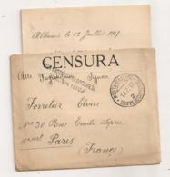 POSTA MILITARE TRUPPE OCCUPAZIONE 2 / CENSURA / ALBANIA    B772 - 1900-44 Vittorio Emanuele III