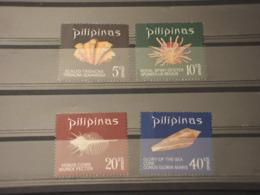 FILIPPINE - 1970 CONCHIGLIE 4 VALORI-  NUOVI(++) - Filippine