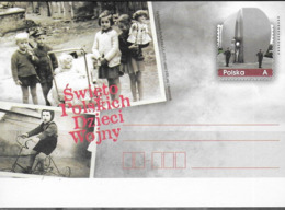 POLAND, 2019,MINT POSTAL STATIONERY, PREPAID POSTCARD, MILITARY, WWI, CHILDREN OF WAR, BICYCLES - Childhood & Youth