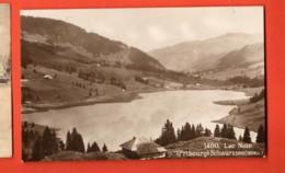 MYB-39 Lac Noir Schwarzsee , Vue Générale Et Alpages, SEPIA. Cachet Vélo-Club Farvagny. Circulé 1923 - FR Fribourg